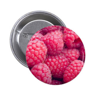 Fresh raspberries 6 cm round badge