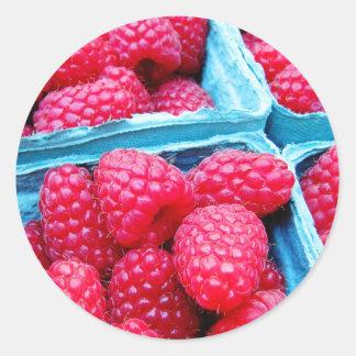 Fresh Raspberries Classic Round Sticker