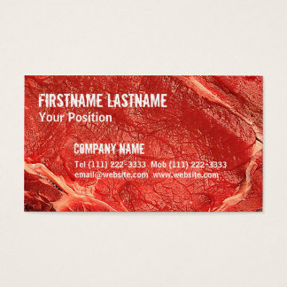 Fresh Raw Meat Business Card
