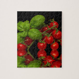 Fresh Red Cherry Tomatoes Jigsaw Puzzle