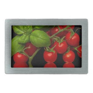 Fresh Red Cherry Tomatoes Rectangular Belt Buckle