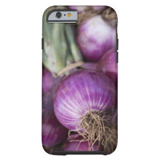 Fresh red onions at a New Jersey farmer's Tough iPhone 6 Case
