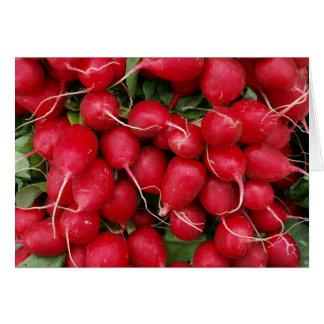 Fresh Red Radishes Card