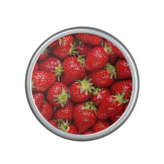 Fresh red strawberries bluetooth speaker