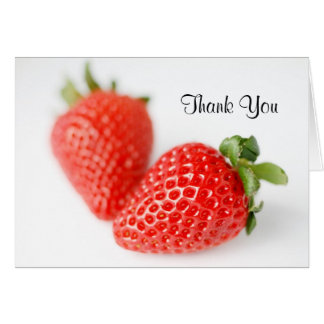 Fresh Red Strawberries Card