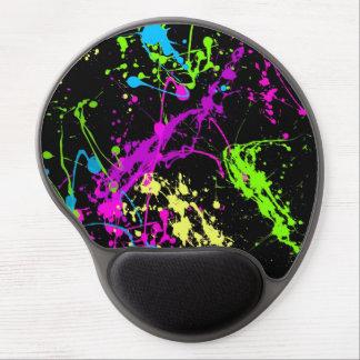 Fresh Retro Neon Paint Splatter Gel Mouse Pads