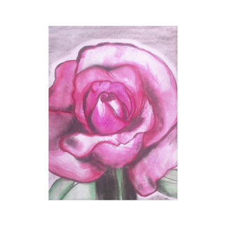Fresh rose canvas print