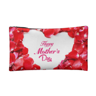 Fresh Rose Happy Mother's Day Small Cosmetic  Bag Cosmetic Bags