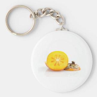 Fresh Sliced Persimmon Keychain