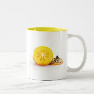 Fresh Sliced Persimmon Two-Tone Mug