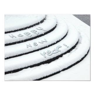 Fresh Snow Happy New Year 11 Cm X 14 Cm Invitation Card