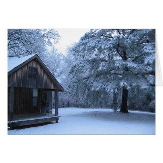 FRESH SNOW IN RURAL ARKANSAS CARD