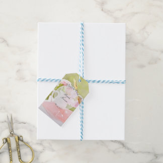 Fresh Spring Flower Bouquet Editable Wedding Gift Tags
