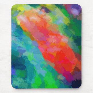 Fresh Spring Flowers Abstract Art Mouse Pad