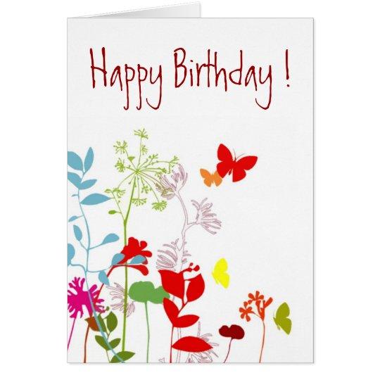 Fresh Spring, Happy Birthday ! - Customise Card