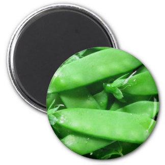 Fresh Spring Peas 6 Cm Round Magnet