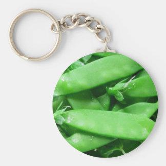 Fresh Spring Peas Key Ring