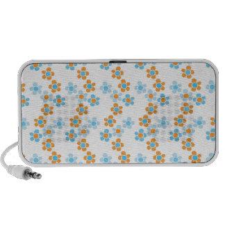 Fresh Springtime Blue Floral Cascade Pattern Speaker System
