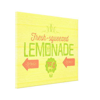 Fresh Squeezed Lemonade Gallery Wrapped Canvas