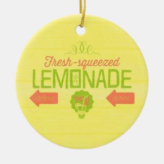 Fresh Squeezed Lemonade Round Ceramic Decoration