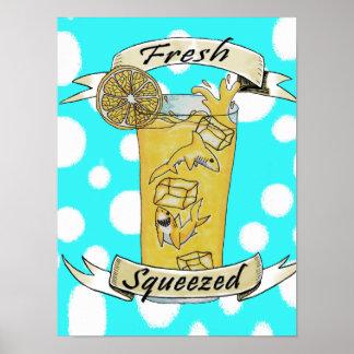 Fresh Squeezed Lemonade Sharks Poster