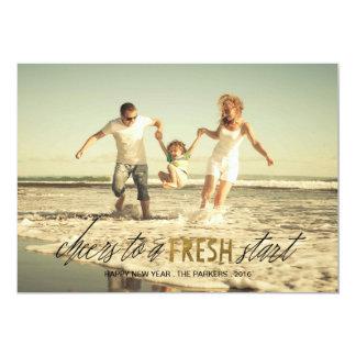 Fresh Start Happy New Year photo card 13 Cm X 18 Cm Invitation Card