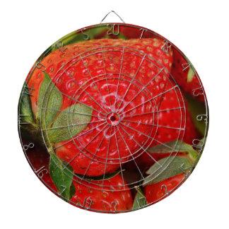 Fresh strawberries dartboard