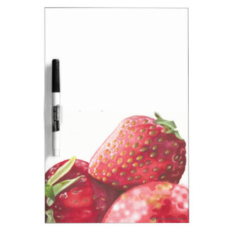 Fresh Strawberries Dry Erase Board