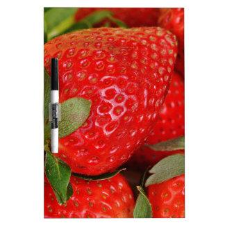 Fresh strawberries dry erase whiteboard