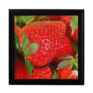 Fresh strawberries gift box
