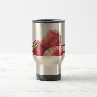 Fresh Strawberries Stainless Steel Travel Mug