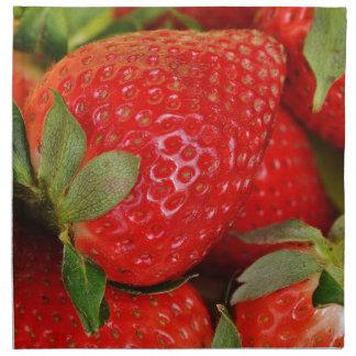 Fresh strawberries napkin