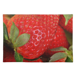 Fresh strawberries placemat