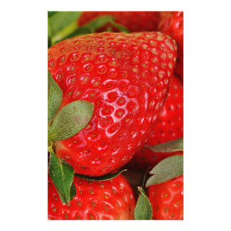 Fresh strawberries stationery