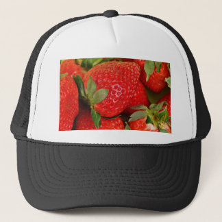 Fresh strawberries trucker hat