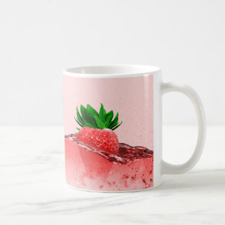 Fresh strawberry juice coffee mug