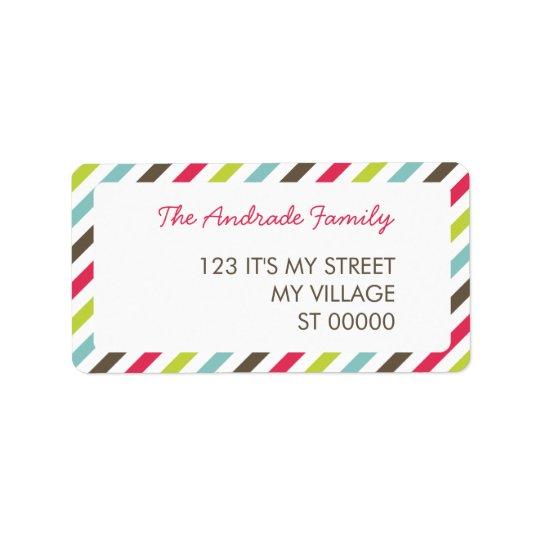 Fresh Stripe Pattern Personalised Address Labels