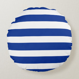 Fresh-Stripes-Navy-White-Room-Accents Round Cushion