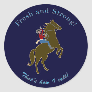 Fresh Strong Cowgirl Stickers