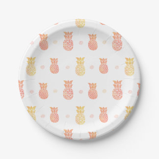 Fresh Summer Pineapple Paper Plate