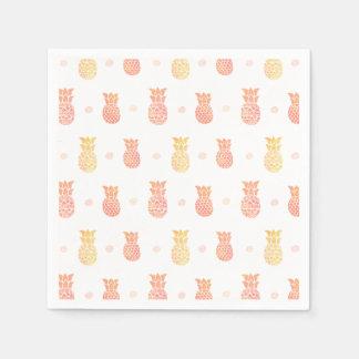 Fresh Summer Pineapple Paper Serviettes