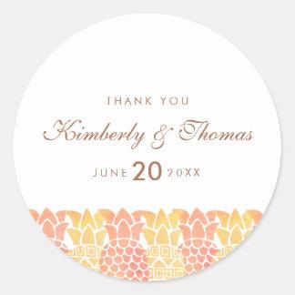 Fresh Summer Pineapple Wedding Favor Sticker