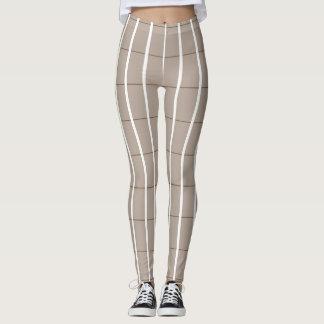 Fresh-Summer-Plaid's-Beige(c) -LEGGING'S_XS-XL Leggings
