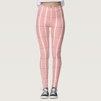 Fresh-Summer-Plaid's-Peach(c) -LEGGING'S_XS-XL Leggings