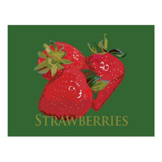 Fresh Summer Strawberries Postcard