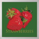 Fresh Summer Strawberries Poster