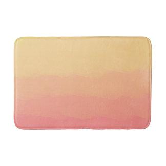 fresh summer sunset orange coral watercolors bath mat