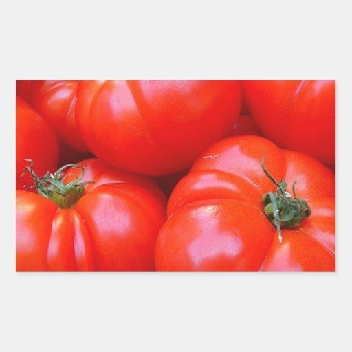 fresh tomatoes rectangular stickers