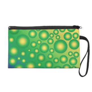 Fresh tropical bubbles wristlet