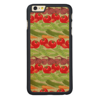 Fresh Vegetable Pattern Carved Maple iPhone 6 Plus Case